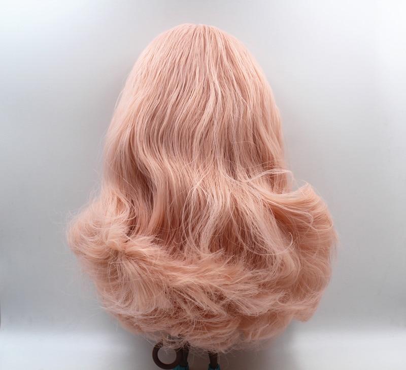 Blygirl doll Characteristic doll pink wavy hair deep black skin nudity doll general body 7 joint DIY doll new skin