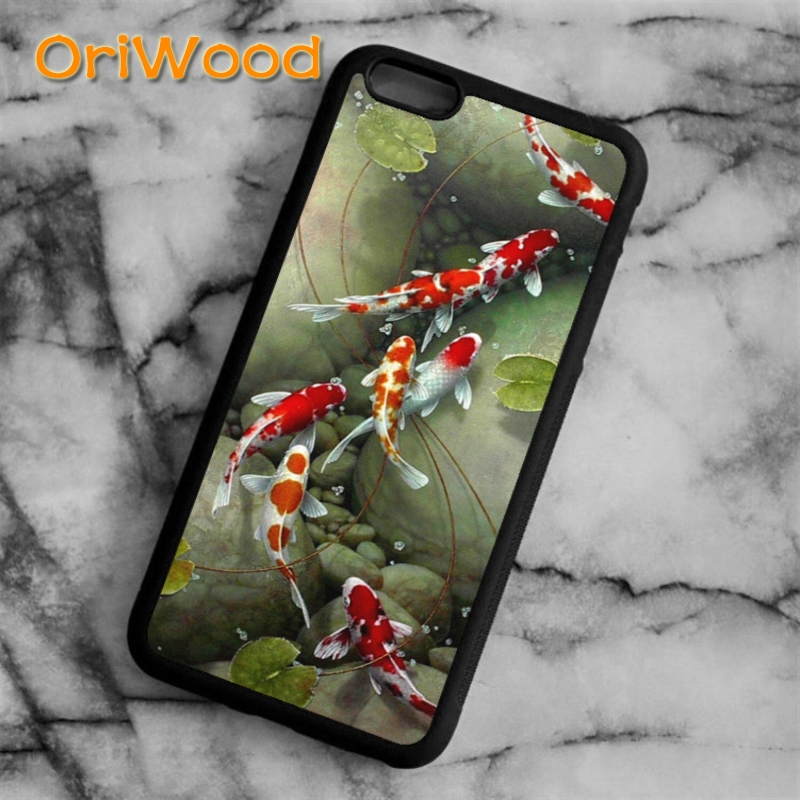 Fitted Cases Oriwood Cute Animal Carps Koi Case Cover For Iphone 6 6s 7 8 Plus X 5 5s Se Samsung Galaxy S5 S6 S7 Edge S8 Plus Note 8 Shell To Enjoy High Reputation At Home And Abroad Phone Bags & Cases