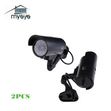 Myeye 2pcs Waterproof  Fake Dummy Camera Outdoor Indoor With LED Light Video Surveillance