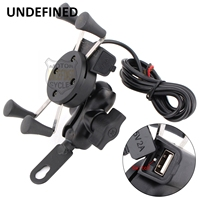 Universal Motorcycle X-Grip Cell Phone Mount Holder USB Charger Waterproof Mobile Phone Accessories