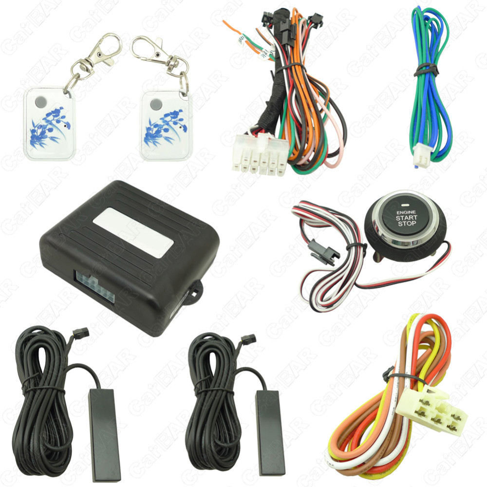 Car Engine Push Start Button Pke Alarm For Peugeot Lock Wiring System One Stop Auto Unlock Door Carbar In Tire Pressure From