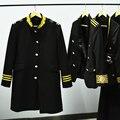 Новый Черный однобортный шерстяное пальто мужчины 2017 Моды траншеи пальто мужские шерстяные куртки пальто dress зима Верхняя Одежда S-XXL