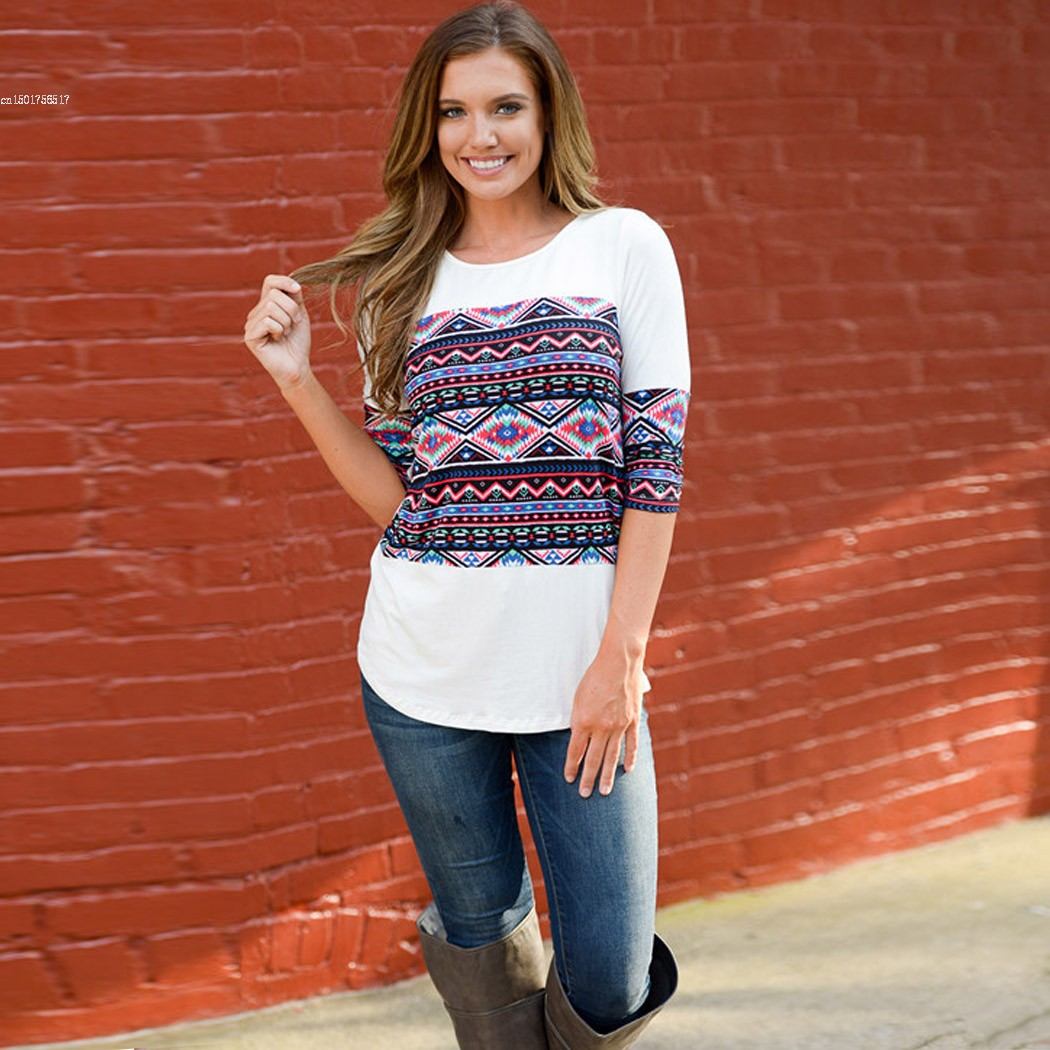 Fanala fashion t shirt women t shirt brand tops 3 4 sleeve for Top t shirt brands