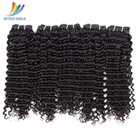 Sevengirls Deep Wave Wet And Wavy Human Hair Whole Sale Bundles Of Weave 4 Bundle Deals Indian Hair Extensions 10 30 Inch