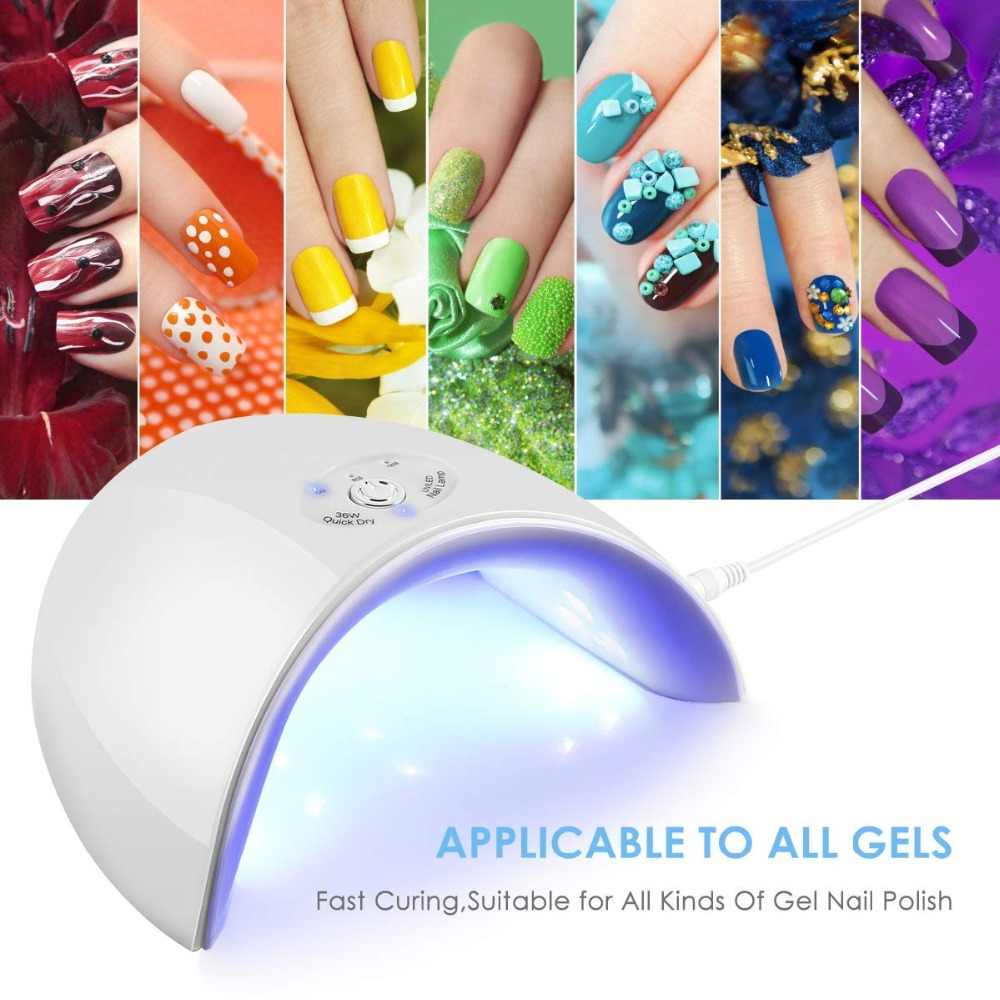 36W Led Nails Gelish Lamp For All Types 12 UV Dryer Art Nali Lamp Manicure For Home Use Machine Dryer Tool USB Connector Nails