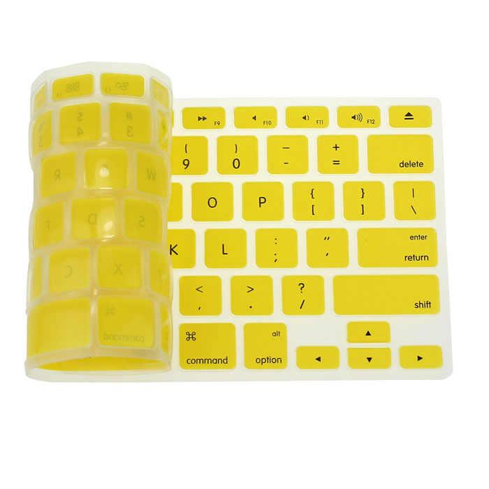 Silicone Keyboard Penutup Pelindung Kulit untuk Apple MacBook Pro MAC 13 15 AIR 13 Lembut Keyboard Stiker 9 Warna # t3