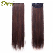 DIFEI Natural Straight Clip In Hair Extention 18inch