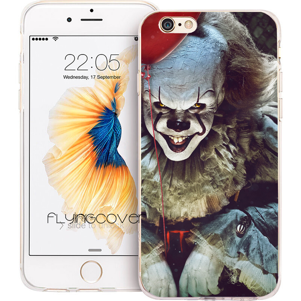 Coque It Film Stephen King Phone Cases for iPhone 10 X 7 8 6 6S Plus 5S 5 SE 5C 4S 4 iPod Touch 6 5 Clear Soft Silicone Cover.