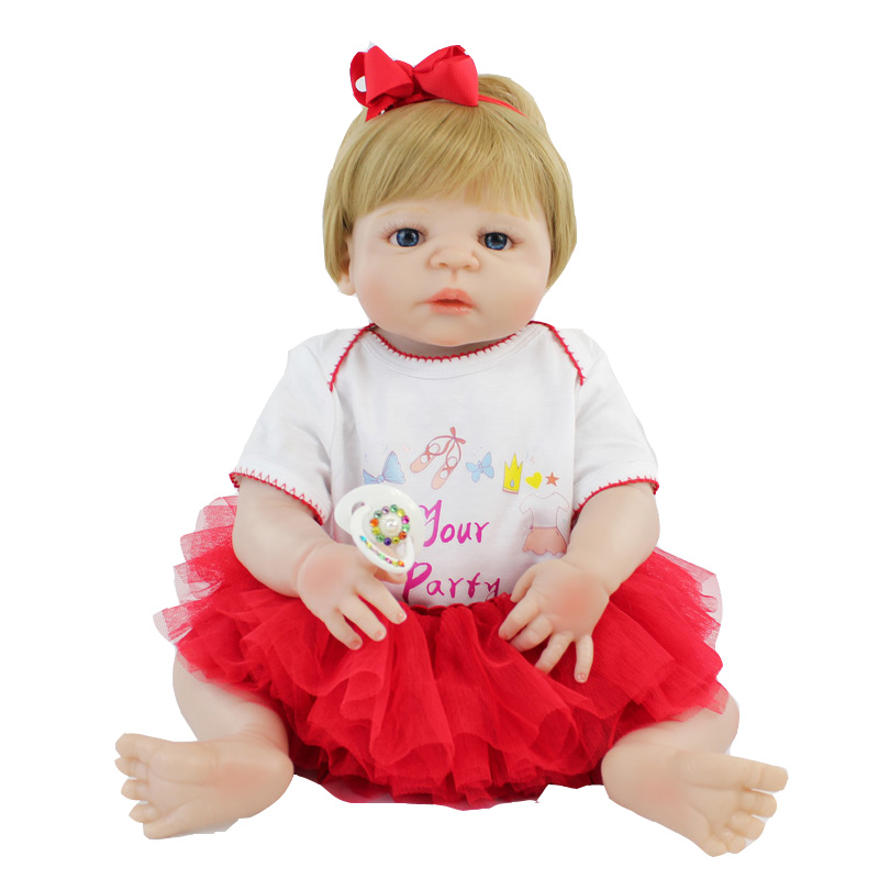 55cm Full Silicone Reborn Girls Baby Doll Toy Vinyl Newborn Princess Toddler Babies Bonecas Like Alive Bebe Play House Bathe Toy футболка wearcraft premium printio house of pain