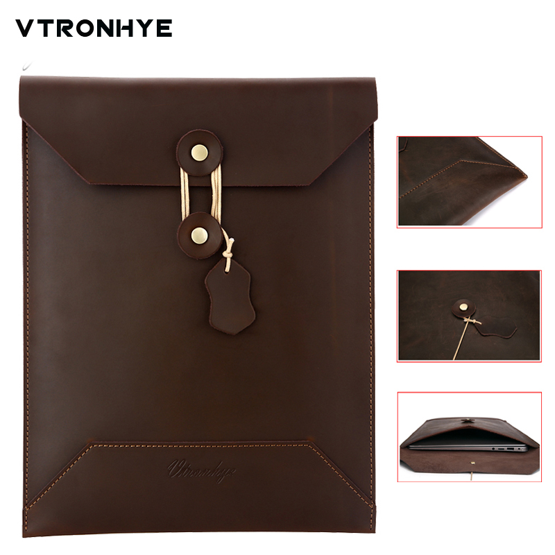 For Mac Book Retina 13.3 Leather Laptop Bag Business Series Leather Laptop Sleeve Notebook Case for Mac Pro Retina 13 inch
