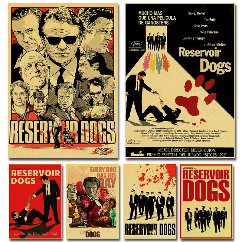 Quentin Tarantino Series Movie Poster Reservoir Dogs Kraft Paper High Quality Print Home Decor Wall Painting Retro Poster