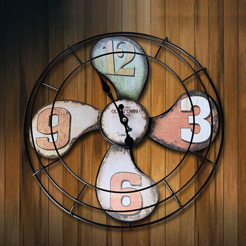Fashionable Fan Shape Clock Wall mounted Battery Powered Clock ...
