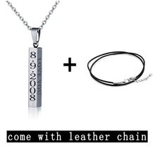 Engraved Name Necklace Personalised Gift Strip Pendant Stainless Steel Unisex Fashion Necklaces & Pendants