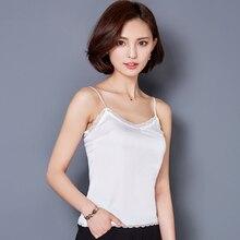 Crop Top Clothes Canotta Donna Estiva Tropical womens tank tops 2018 Silk Women Shirt Camis Sleeveless  Blusa Summer Feminina