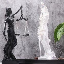 Justiça deusa estatueta grega anjos justos estátua resina arte & artesanato decoração para casa arte escultura ornamentos r288