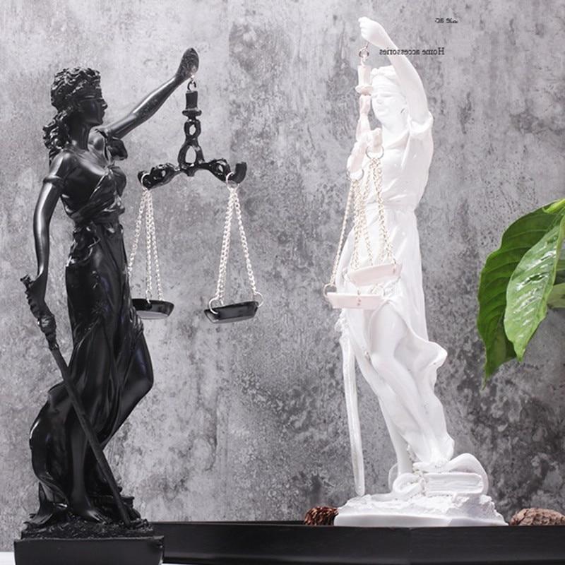 Justice Goddess Figurine Greek Fair Angels Statue Resin Art&Craft Home Decoration Art Sculpture Ornaments R288
