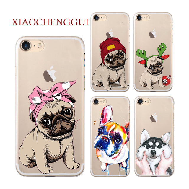 XIAOCHENGGUI Legal Pug Projeto Soft Case de Silicone para iPhone 6 S 5 5S SE X 7 8 Mais Tampa Do Telefone para O Iphone 6 caso Coque splus