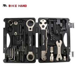 BIKE HAND 18 in 1 Bicycle Repair Tools Kit Box Set Multi MTB Tire Chain Repair Tools Spoke Wrench Kit Hex Screwdriver Bike Tools