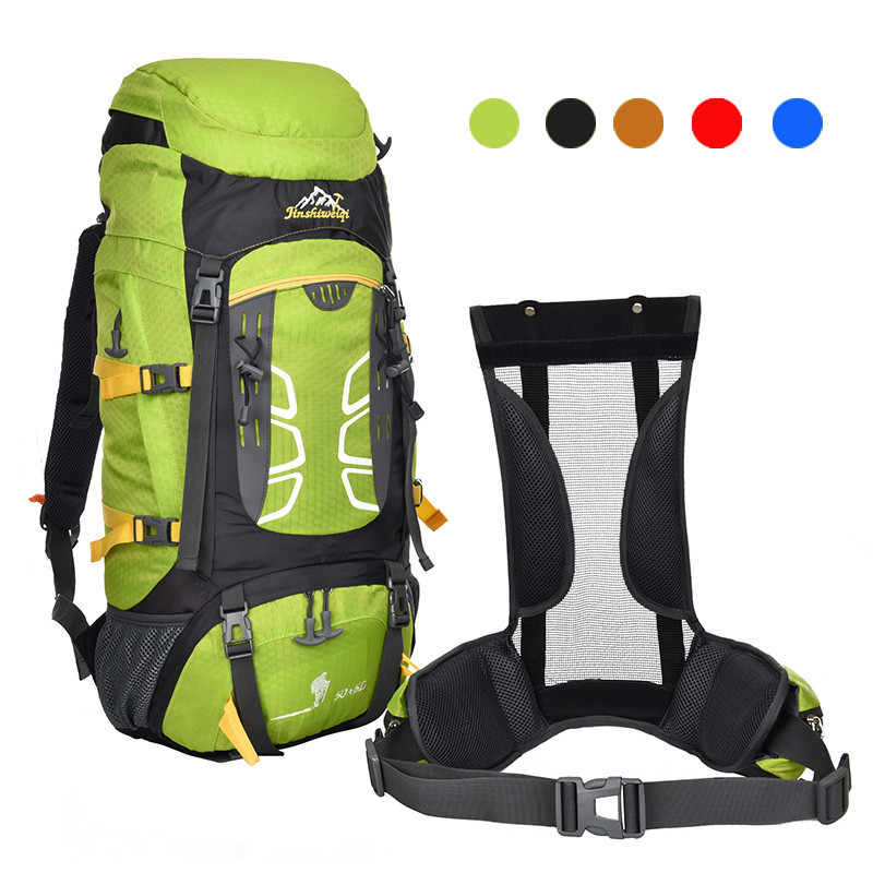 Sports bag 60x33x20cm backpack 55L Outdoor Backpack Hiking Bag Camping Travel Waterproof Pack Mountaineering Tactical Backpack 65l professional outdoor mountaineering bag camouflage bag large capacity multi function camping hiking backpack outdoor travel