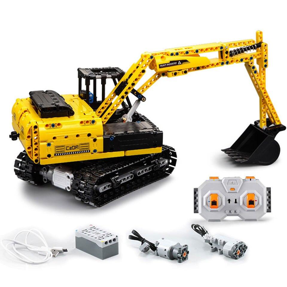 Oyuncaklar ve Hobi Ürünleri'ten Bloklar'de RC Buldozer Ekskavatör Araba Teknik Modeli Yapı Taşları Erkek Doğum Günü Hediyeleri Çocuklar Uzaktan Kumanda oyuncak arabalar Çocuklar Için'da  Grup 1