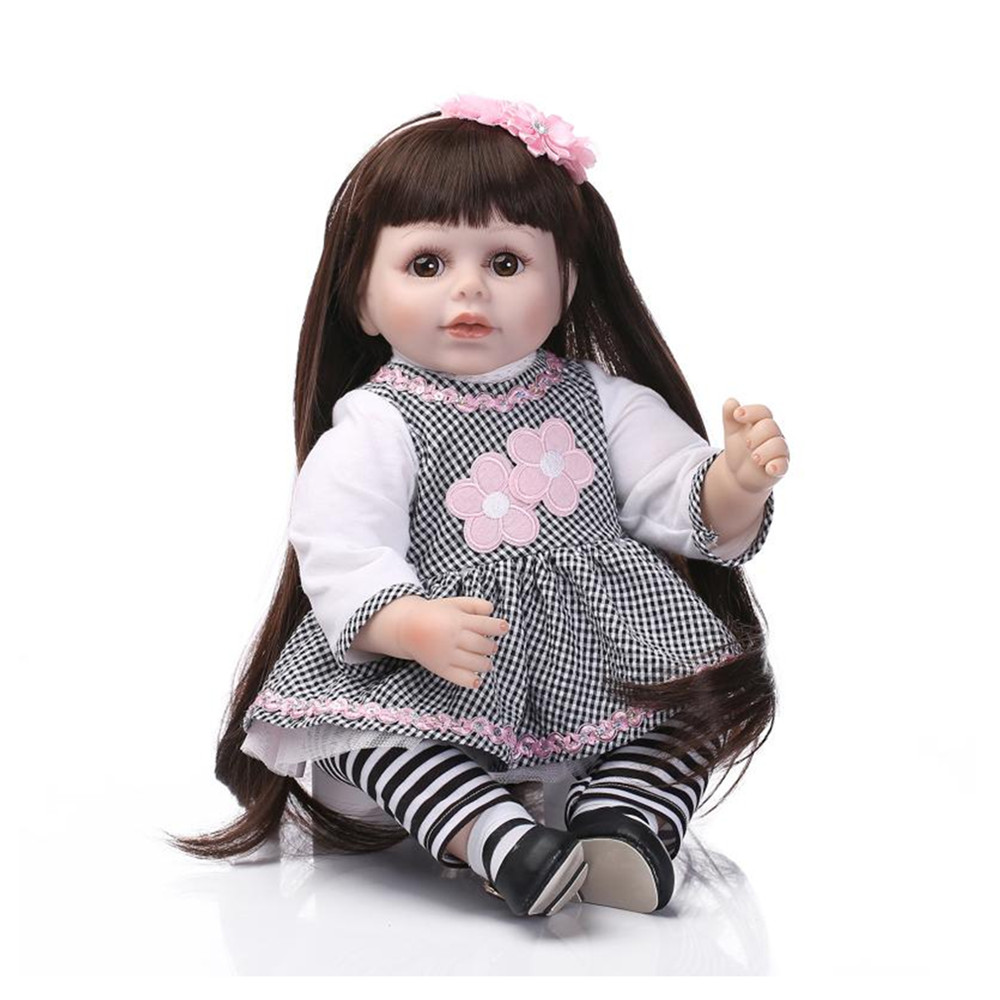 Fashion Adorable Silicone Girls Doll Toys for Children's Gift,20 Inch Lifelike Baby Princess Doll with Clothes Free Shipping free shipping new year merry christmas gift 18 american girl toy with clothes silicone lifelike baby doll baby toys girls gift