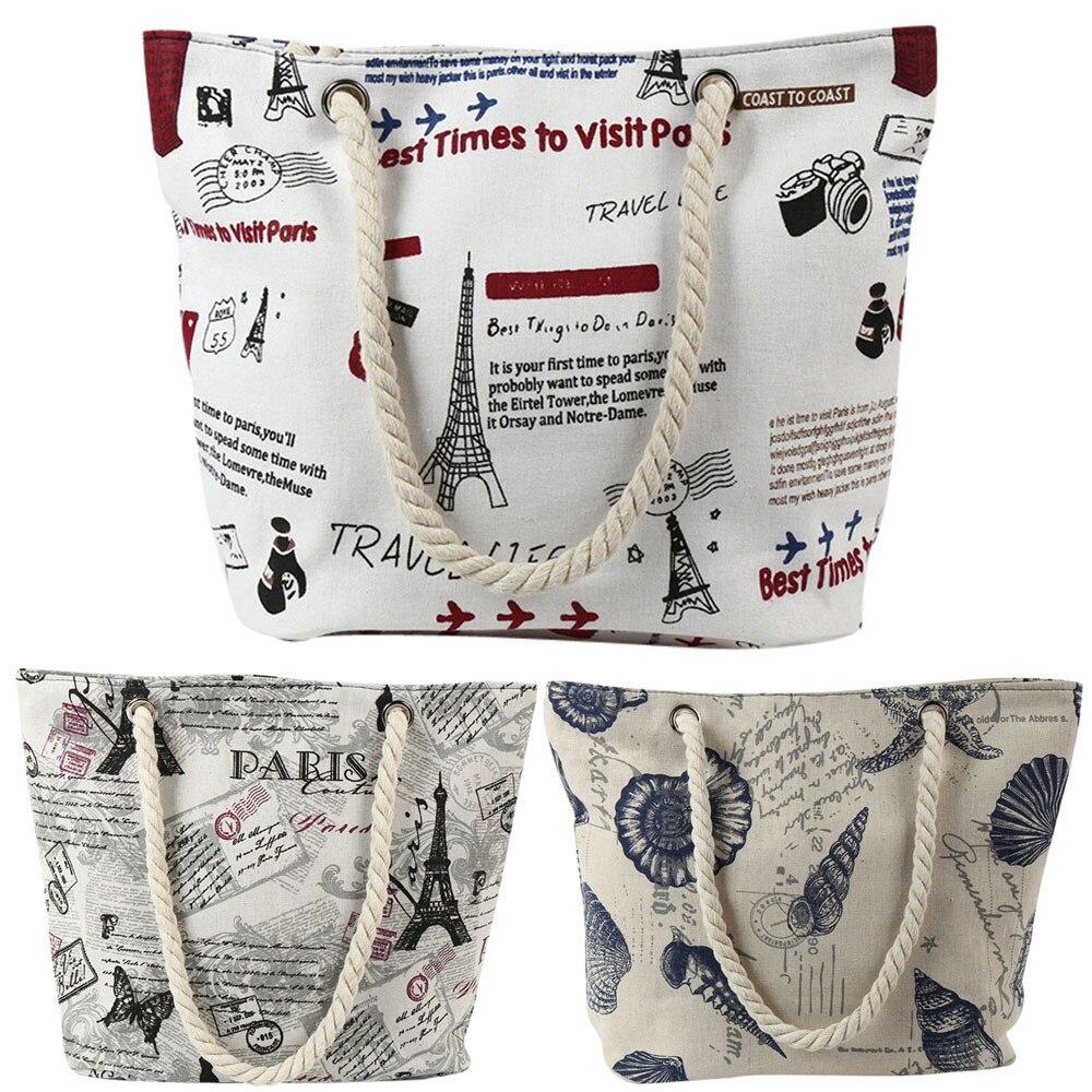 woman shoulder bag Women's Beach Printing Shoulder Bags Capacity Women Canvas Bags omuz /0.7(China)