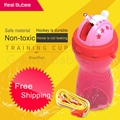 2017 2 colores 400 ml drinkware estrella patrón de niño bebé cup aprender alimentación irrompible tazas de paja de agua no potable tóxicos biberón