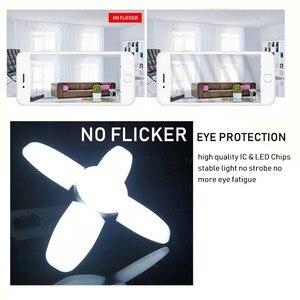 Image 5 - החדש 60W מתקפל מאוורר להב LED תליון אורות אין הבהוב B22 E27 LED הנורה 220V 360 מעלות זווית מתכוונן תקרת מנורה