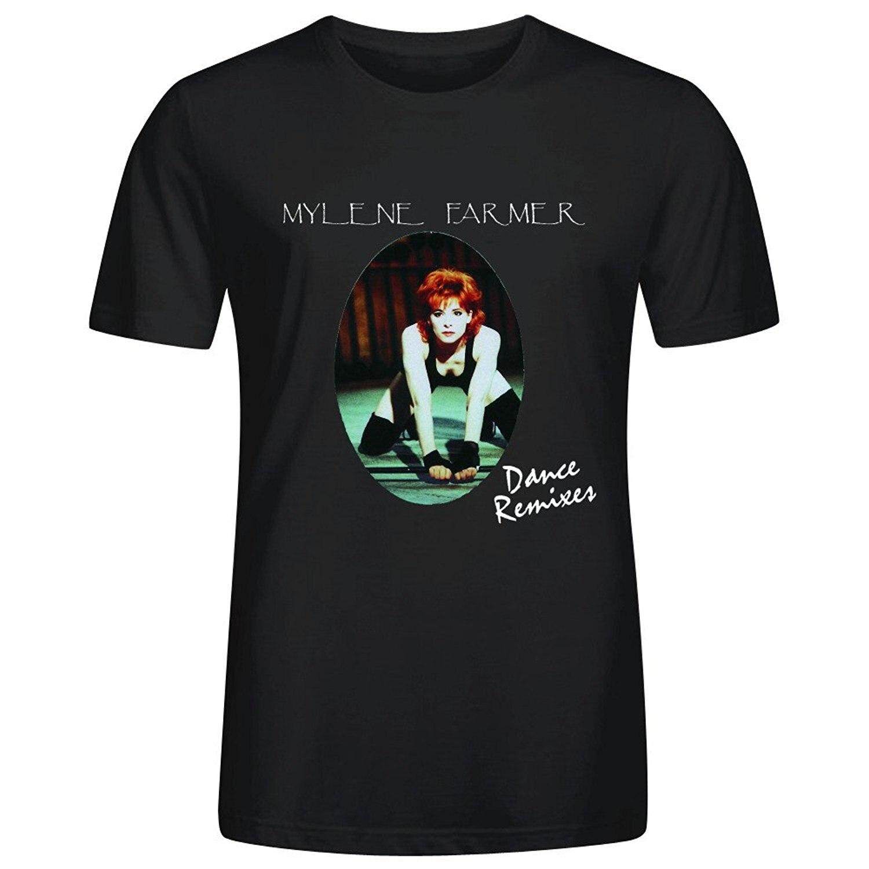 Милен Фармер танец ремиксы Для мужчин; хлопковая Футболка с круглым вырезом
