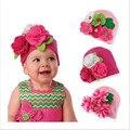 Bebê Tampas de Crianças de Moda Chapéus Do Bebê da Mantilha Meninas Tampão Do Inverno Do Bebê Beanie Quente Presentes Recém-nascidos Adereços Fotografia Fower Crianças Chapéu