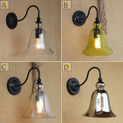 Vintage ściana światło oświetlenie maching jasne szklana ściana lampa do sypialni jadalnia salon łóżko balkon alejek cafe kinkiet oprawa w Lampy ścienne od Lampy i oświetlenie na