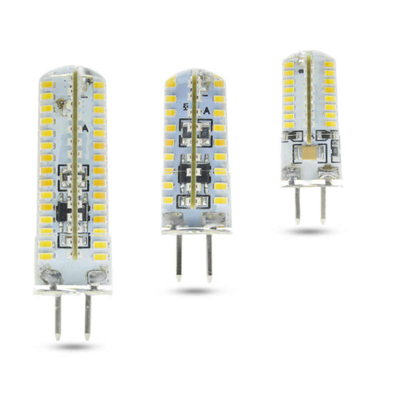 Energy saving Efficient LED GU5.3 AC 220V Silica gel led g5.3 LED GU5.3 3014 64/72/120beads Replace halogen bulb