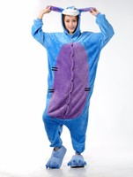 Halloween Unisex Adult Flannel Pajamas Cosplay Cartoon Animal Onesies Pyjama Sets Sleepwear Panda Giraffe Stitch Unicorn
