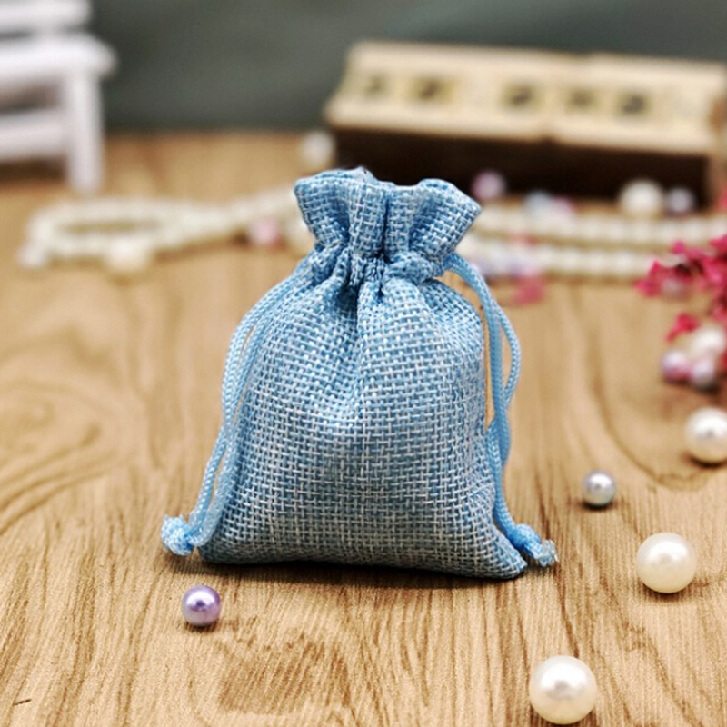 Fashion Natural Gifts Jute Bag Cotton Thread Velvet Drawstring Bags Pouches Jewelry Packaging For Wedding/Party/Birthday
