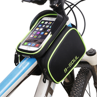 6 2inch Waterproof Bicycle Front Touch Screen Phone Bag Frame Mountain Bike Top Tube Bag Cycle