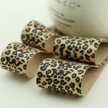 10 Meter Leopard Printed Grosgrain Ribbon Packing Tape Handmade Bow Hair Sewing Accessories DIY Craft Supplies цена и фото