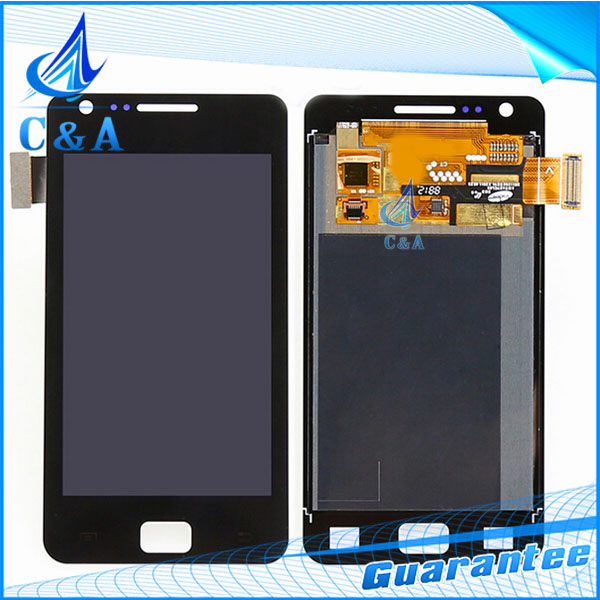 1 piece free shipping black white tested 4.3 inch screen for Galaxy for Samsung S2 i9100 lcd display with touch digitizer