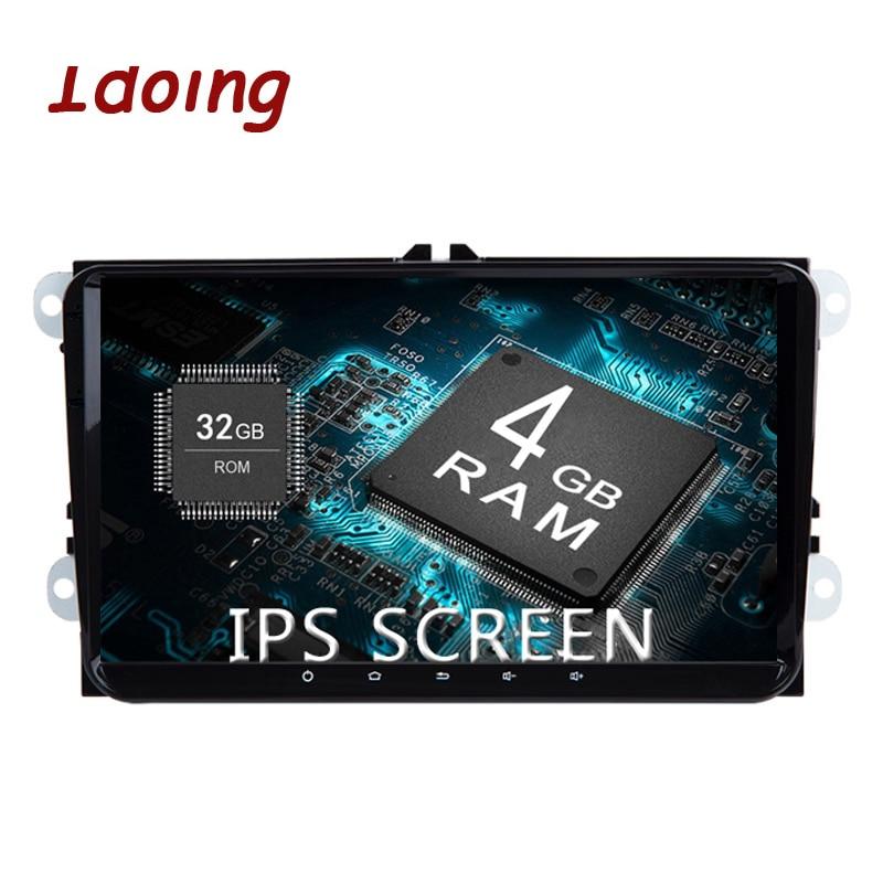 Idoing 9 2Din Voiture Radio GPS Lecteur Multimédia Android8.0 Pour VW Skoda Siège IPS Écran 4g + 32g Octa Core Navigation Volant