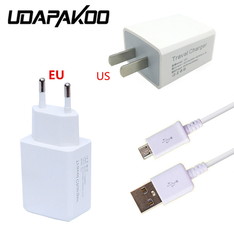 100% <font><b>5V</b></font> <font><b>2A</b></font> EU/US <font><b>Wall</b></font> <font><b>Charger</b></font> + 1m Micro USB Cable For Samsung Galaxy S4 S3 A5 j7 for doogee x5 max pro,Leagoo M5 moto x play g4