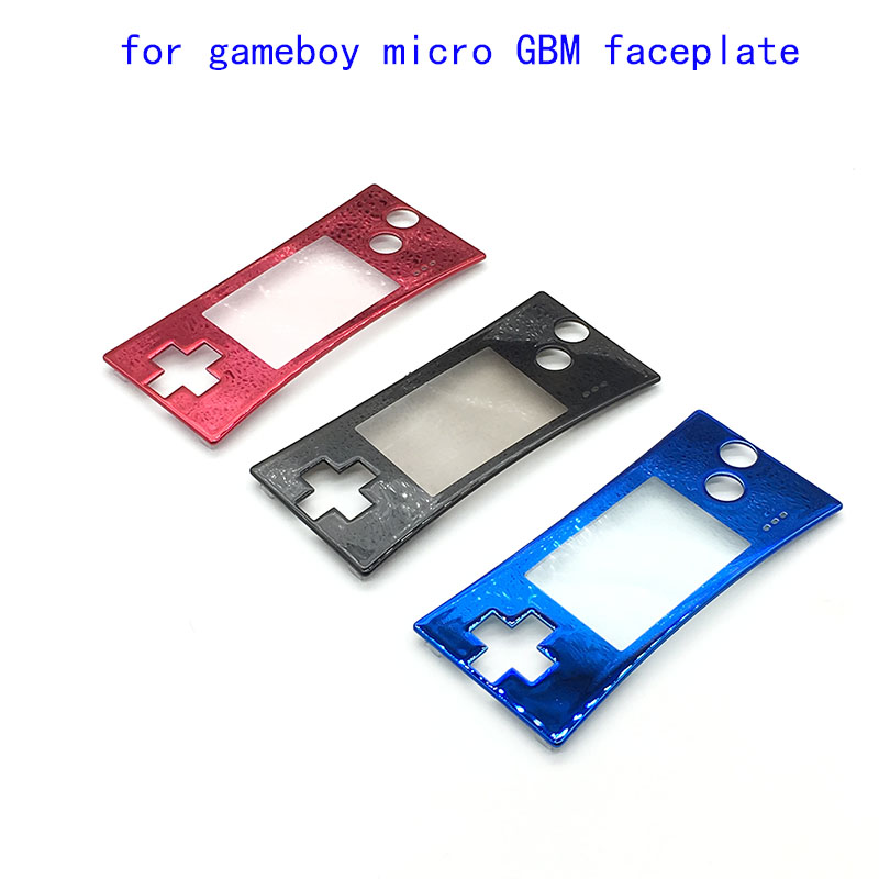 Chrome Faceplate Cover Vervanging Front Shell Behuizing Case voor Nintendo Game Boy Micro voor GBM