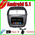 8'' Quad Core Android 5.1 Car GPS For  ASX 2010-2012/PEUGEOT 4008 2012/CITROEN C4 With 16GB Flash Radio Stereo Free Shipping