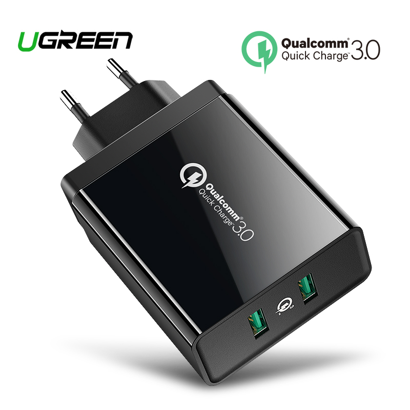 Ugreen carga rápida 3,0 36 W cargador USB para iPhone X 8 Plus rápido QC 3,0 cargador para Samsung Galaxy s9 Xiaomi mi 8 cargador USB