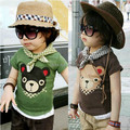 new 2014 summer boys t shirt	 baby & kids clothes child short sleeve bear T-shirts baby boys casual Cartoon pullover top