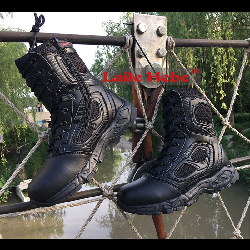 ФОТО Laite Hebe 2017 Delta Tactical Boots Military Men Group SWAT American Combat Winter Boots Desert Team Hiking Shoes Men Size36-46