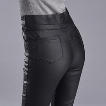 New Autumn Winter Women High Waist PU Leather Pants Brand Fashion Streetwear Stretch Leggings Skinny Trousers Female Casual Pant