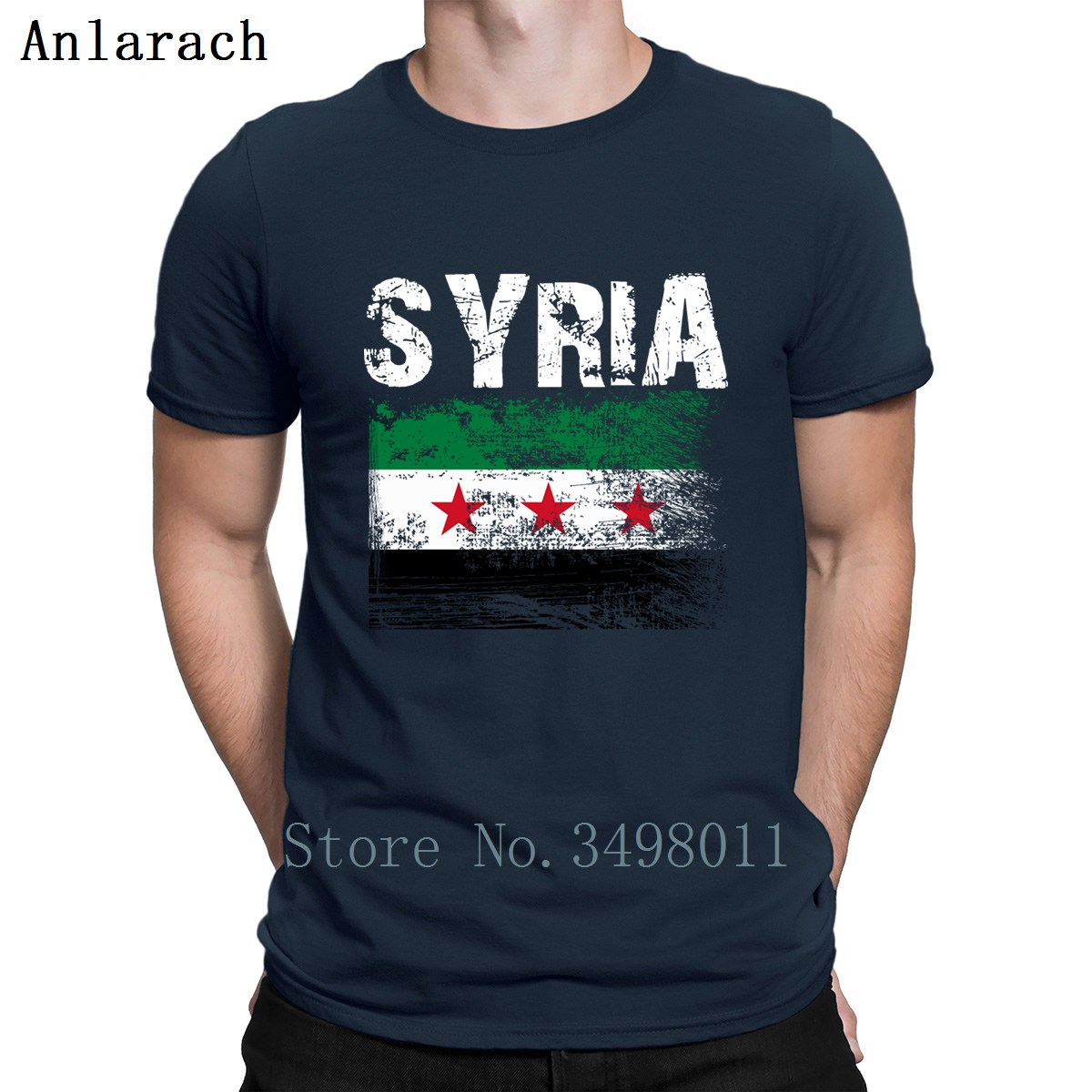 Syria T Shirt Personalized Short Sleeve Round Neck Cool Cute Breathable Spring Autumn Letters Men T-Shirt