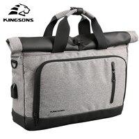 Kingsons Genuine Nylon bag Business Men bags Laptop Tote Briefcases Crossbody bags Shoulder Handbag Men's Messenger Bag