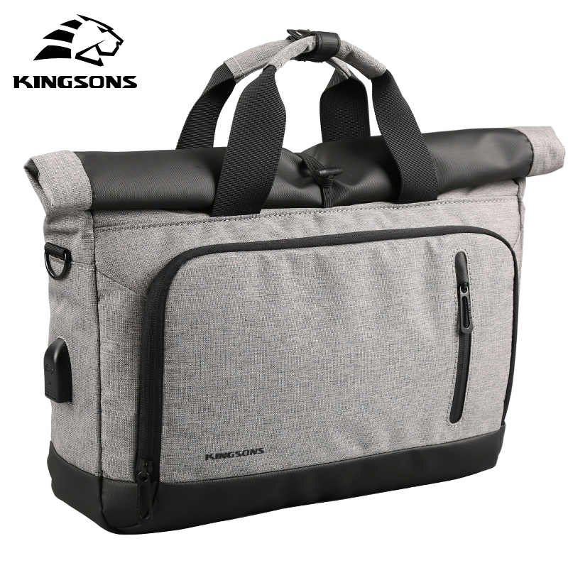 Kingsons натуральная нейлоновая сумка Бизнес Для мужчин сумки для ноутбука  Tote портфели через плечо сумки на 452a55ee669