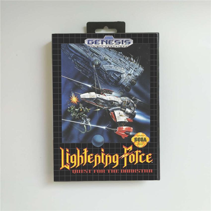 Lightening Force USA Cover 16 Bit MD Game Card For Sega MegaDrive Genesis Game Console Cartridge