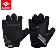 Santic Cycling Gloves Half Finger Unisex Outdoor Sports Spring Summer MTB Cycling Motorcycle Racing Bisiklet Eldiven SK0030